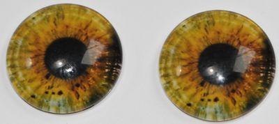 1 Paar Augen Glaslinsen Zum Aufkleben 16 Mm Gelb Grün