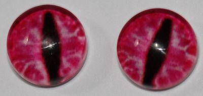 1 Paar Augen Glaslinsen Katzedrache Zum Aufkleben 6 Mm Pink